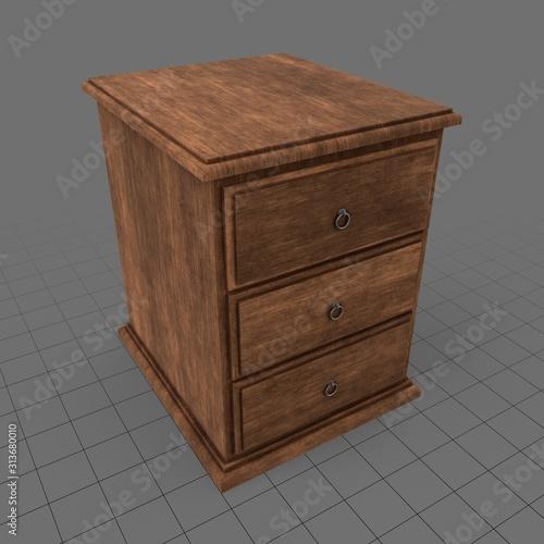 Fototapeta Bedside table obraz