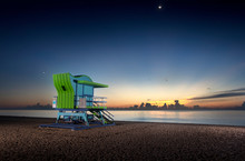 Lifeguard Stand In Miami Beach...