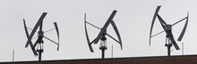 Modern Roof Wind Turbines Pano...