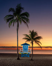Blue Lifeguard Stand With Two ...