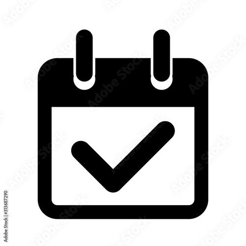 kalendarz ikona Fototapet
