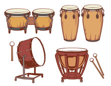 Percussion Instruments Set.