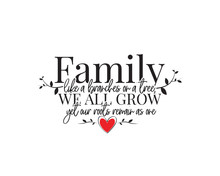 Family Like A Branches On A Tr...