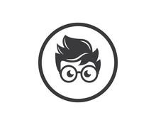Geek Boy Icon Vector Illustrat...
