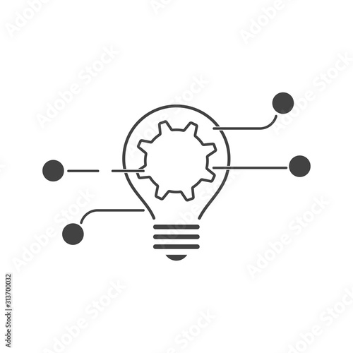 Obraz  Collective work on the idea. Vector icon isolated on white background. - fototapety do salonu