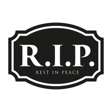 Rest In Peace Sign Black