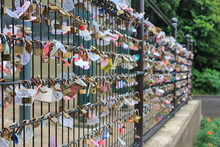 Many Love Locks (love Padlock)...