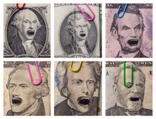 Angry Yelling Presidents Money