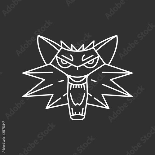 Obraz na plátně Wolf head icon