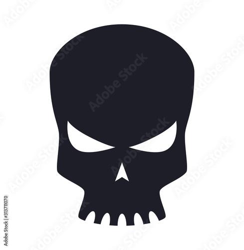 Scary robotic skull head icon symbol vector illustration Tablou Canvas
