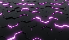 Abstract Black Of Futuristic S...