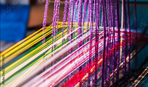 Fotografiet indian manual loom hand weave