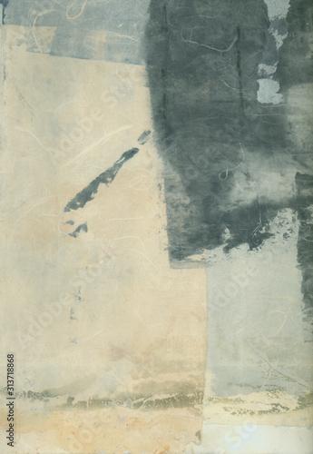 Obraz na płótnie Abstrakcyjne malarstwo w odcieniach szarości