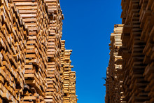 A Low Angle View Of Stockpiled...