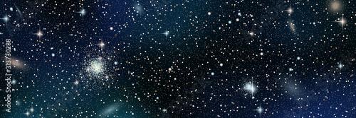 Fototapeta Gwiazdki  night-sky-vector-background-with-stars-nebula-and-galaxies