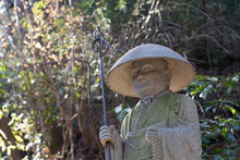 """Japanese Stone Statue""""Jizo&quo"""