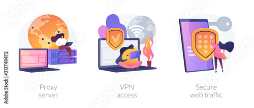 Fotografija Secure network connection and privacy protection