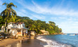 canvas print picture - Tropical beach on a sunny day. Yelapa, Jalisco, Mexico.