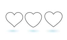 Collection Of Heart Illustrations, Love Symbol Icon Set, Love Symbol
