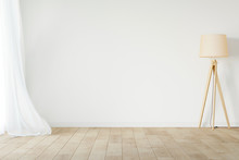 White Empty Room Mockup With W...