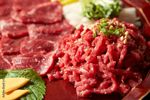 Fototapeta Yukhoe, Korean fresh raw meat dish  obraz