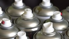 Empty Spray Paint Cans. Sortin...
