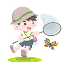 Cute Cartoon Style Little Japa...