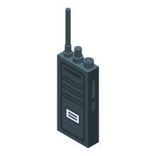 Walkie Talkie Icon. Isometric ...