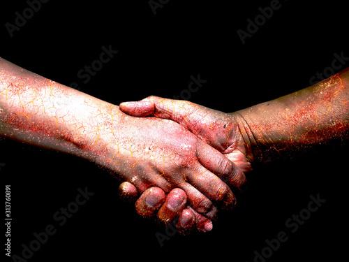 握手のクローズアップ Canvas Print