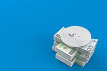 Satellite Dish On Stack Of Money
