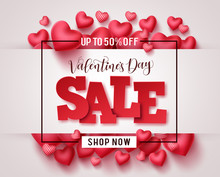 Valentines Day Sale Vector Pro...