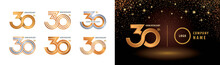 Set Of 30th Anniversary Logoty...