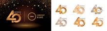Set Of 40th Anniversary Logoty...