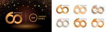 Set Of 60th Anniversary Logotype Design