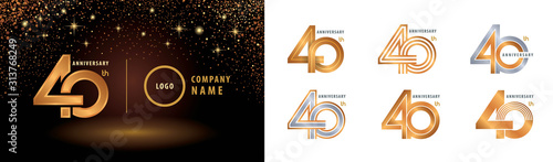 Fotografia Set of 40th Anniversary logotype design