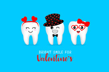 Cute Cartoon Tooth Character W...