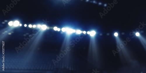 Fototapeta Sport stadium in lights . Mixed media