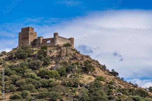 Castle of Burguillos del Cerro, in the province of Badajoz, Extremadura, Spain