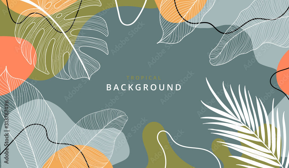Fototapeta Creative hard paint cover design backgrounds vector. Minimal trendy style organic shapes pattern with copy space for text design for invitation, Party card,Social Highlight Covers and stories page