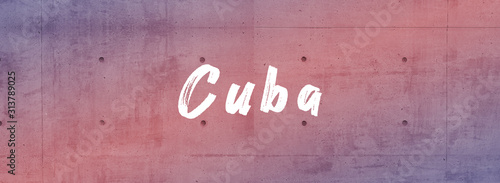 web Label Sticker Cuba Canvas Print