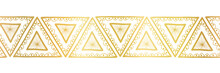 Gold Foil Triangles Seamless V...