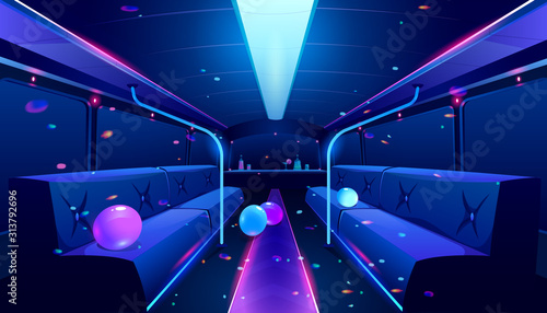 Photographie Party bus inside