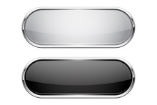 Web Buttons. Black And White S...
