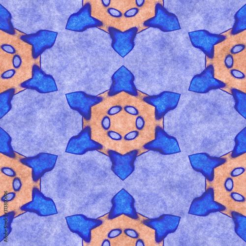 Fotografía  Abstract fabric pattern- mosaic illustration