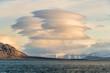 canvas print picture - interessante Wolkenformation in der arktischen Landschaft