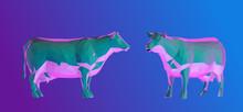 Vaporwave Cow. Set Of Psychede...