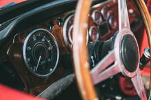 Wooden Steering Wheel, Vintage...