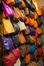 Leather Handbags In The Shop O...