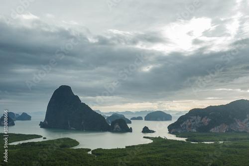 Beautiful view on the Phang Nga bay