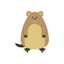 Cute Groundhog Illustration, H...